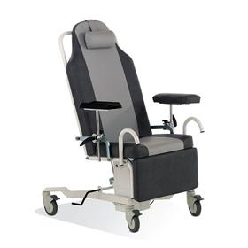 Prøvetagningsstol, elektrisk hæve/sænk sædehøjde, gasfjeder ryg